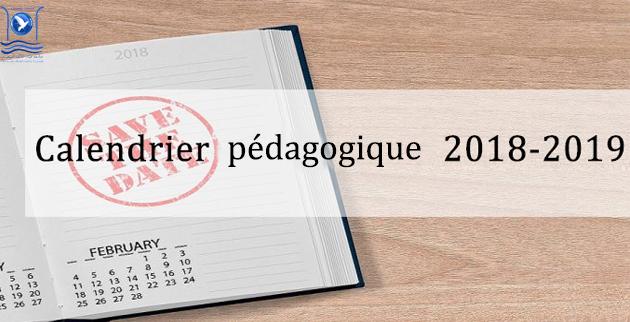 Calendrier Pedagogique.Calendrier Pedagogique 2018 2019 Fs Tetouan